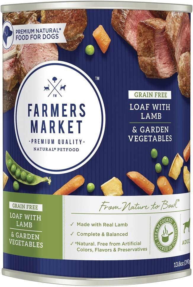 Farmers Market Pet Food Premium Natural Canned Wet Dog Food, 13.8 oz Can Case of 12