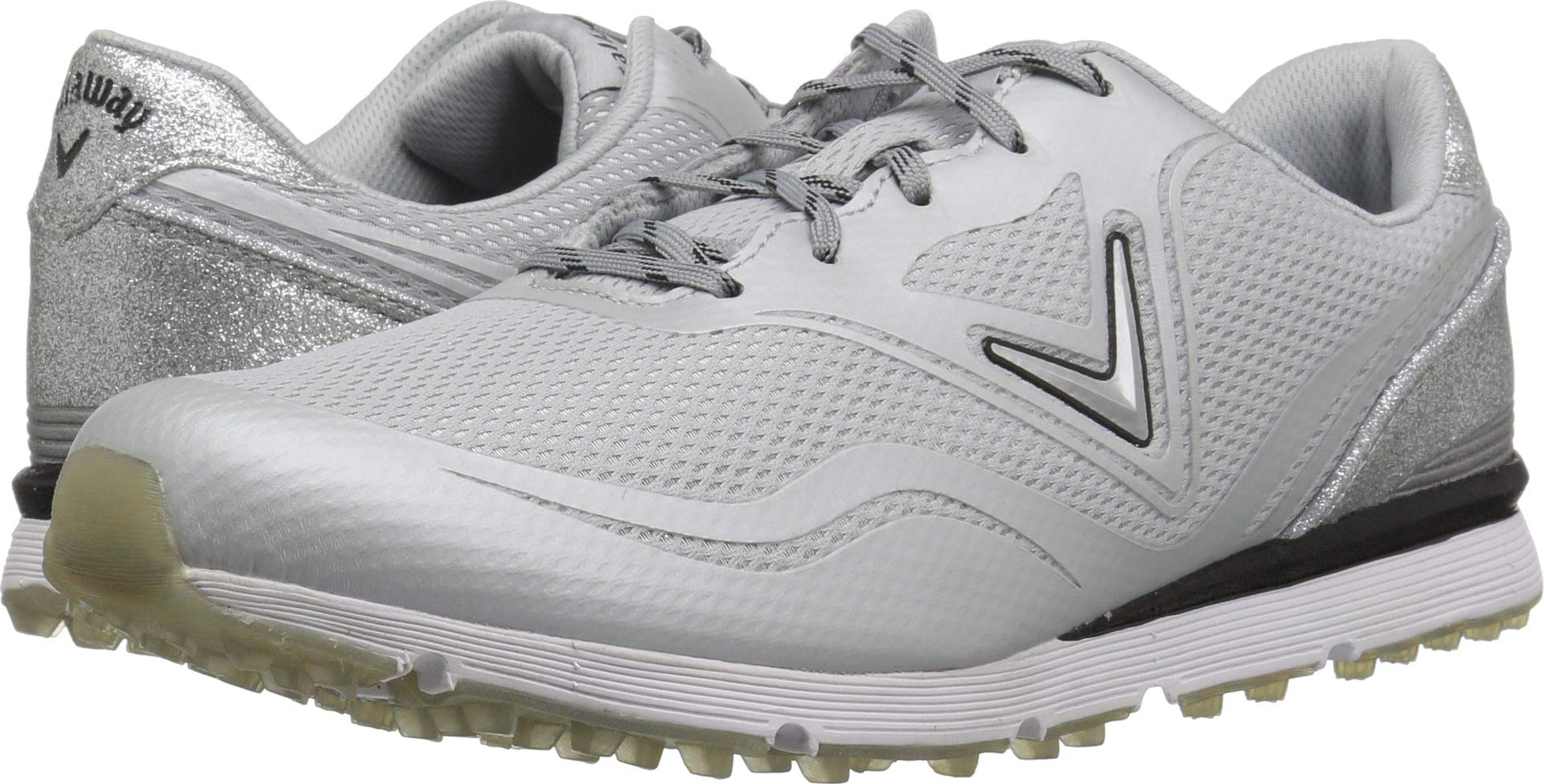 Callaway Women's Solaire Golf Shoe, Light Grey, 7 B B US