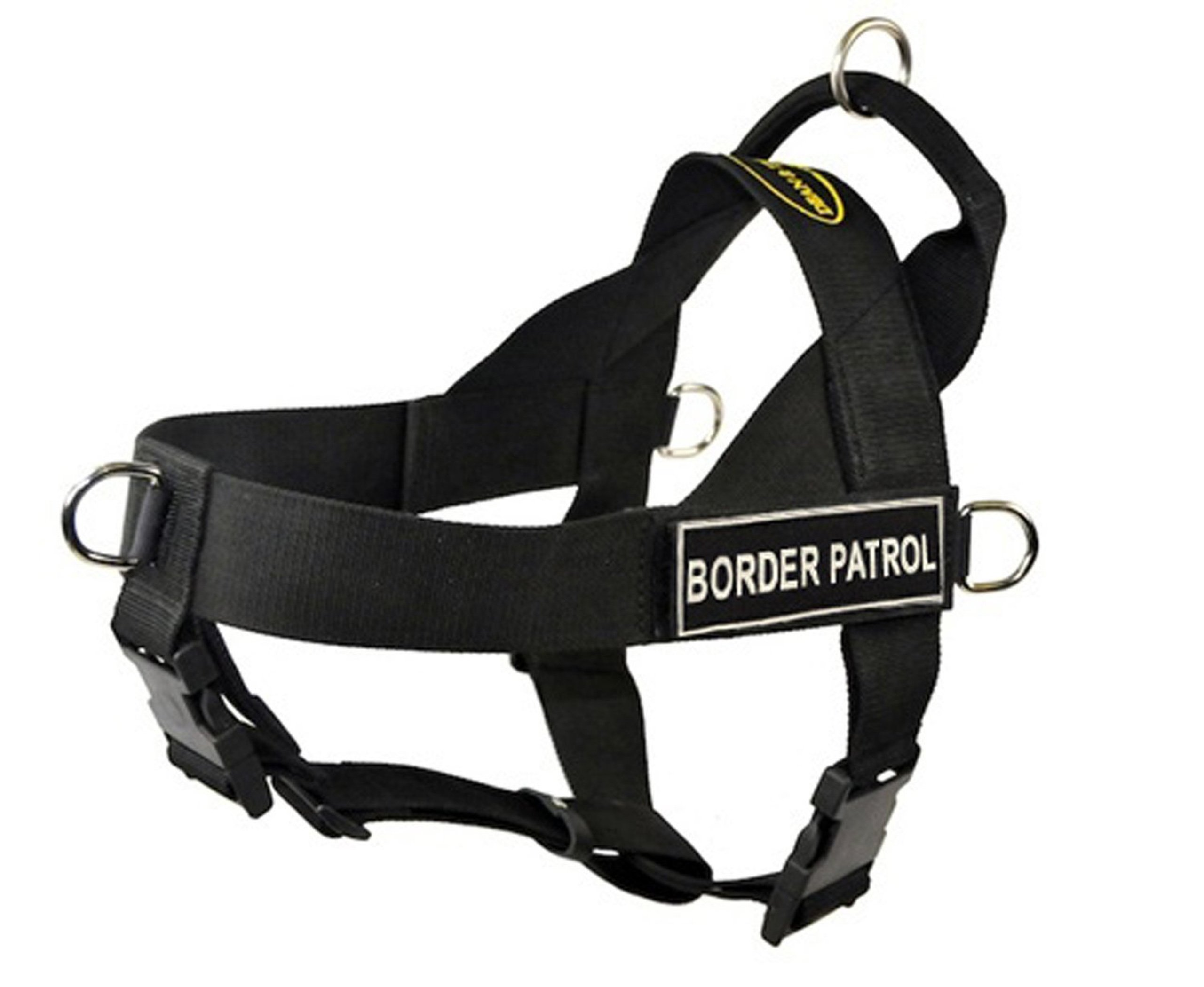 Dean & Tyler D&T UNIVERSAL BPATROL BK-S DT Universal No Pull Dog Harness, Border Patrol, Small, Fits Girth, 61cm to 69cm, Black