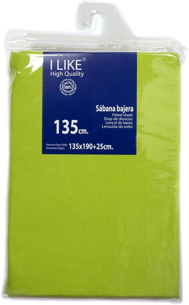 I LIKE® Sabana Bajera Ajustable Kiwi 100% ALGODÓN Cama 135 (135 X ...