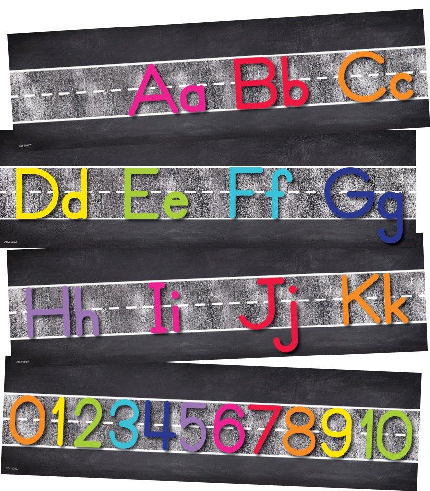 Schoolgirl Style Educational Alphabet Line: Manuscript (110407)