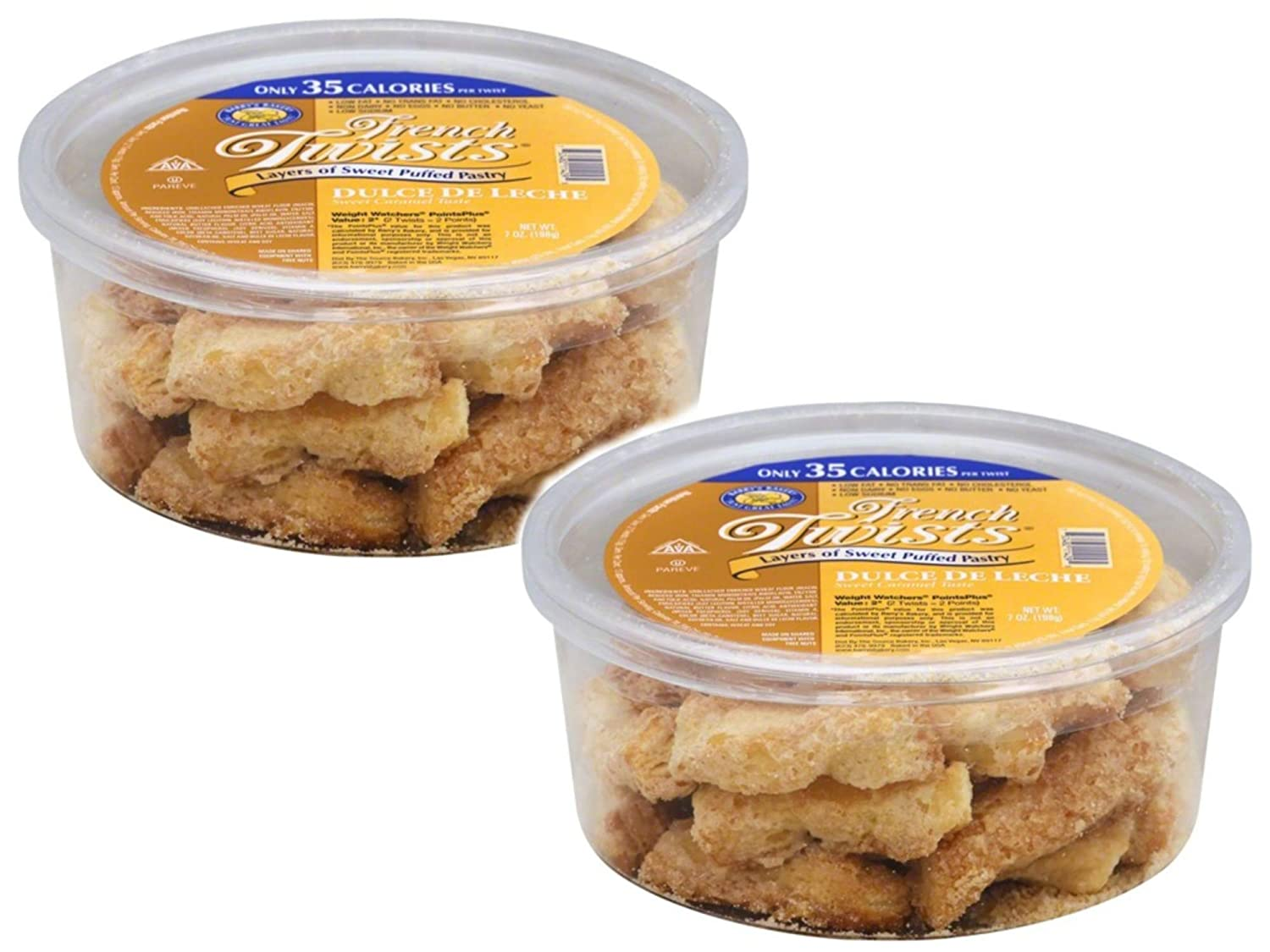 2 pack - Barrys Bakery Dulce de Leche French Twists, 7 oz each: Amazon.com: Grocery & Gourmet Food