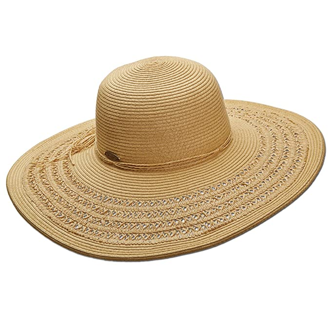 2df9818acfc Amazon.com  Panama Jack Women s Paper Braid Packable Sun Hat