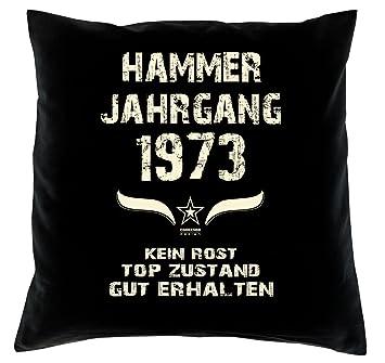 Hammer Jahrgang 1973 Sprüche Kissen 40x40 Für Die Ganze