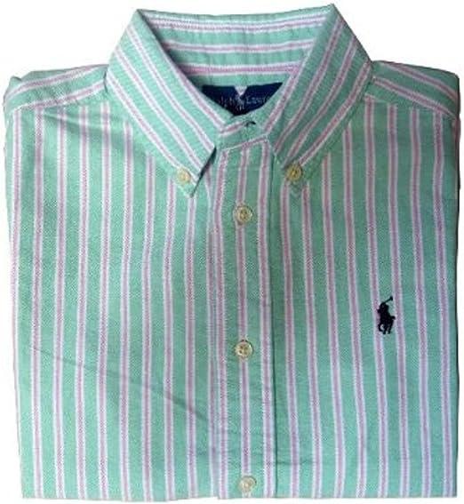 Ralph Lauren - Camisa - Rayas - para niño Green Striped: Amazon.es: Ropa y accesorios