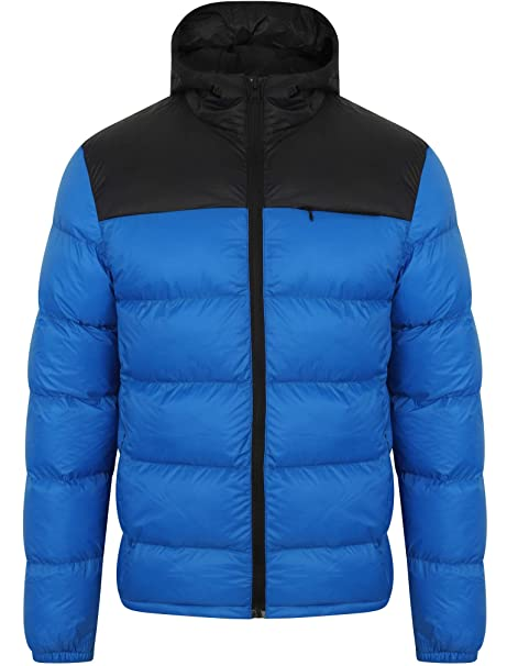 Mens Bubble Puffer Jacket Tokyo Laundry Coat Hoodie Quilted Padded HAKIM Winter
