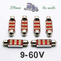 G-V 6X Bombillas Interior LED C5W 24V 39MM