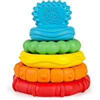 Baby Einstein Stack & Teethe Multi-Textured Easy-to-Grasp 5-Piece Teether Toy Set, Ages 3 Months +
