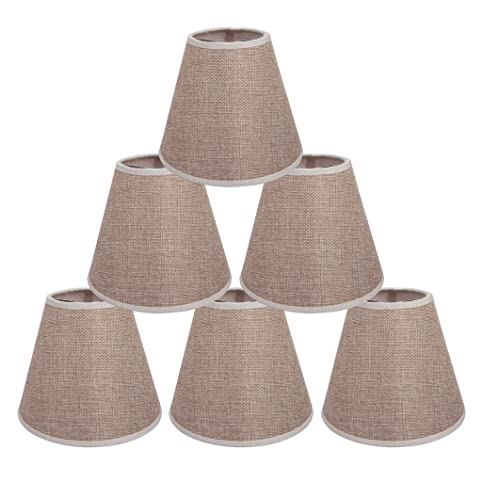 ONEPRE Cream Lamp Shades Clip on light shades Candle Lampshades ...