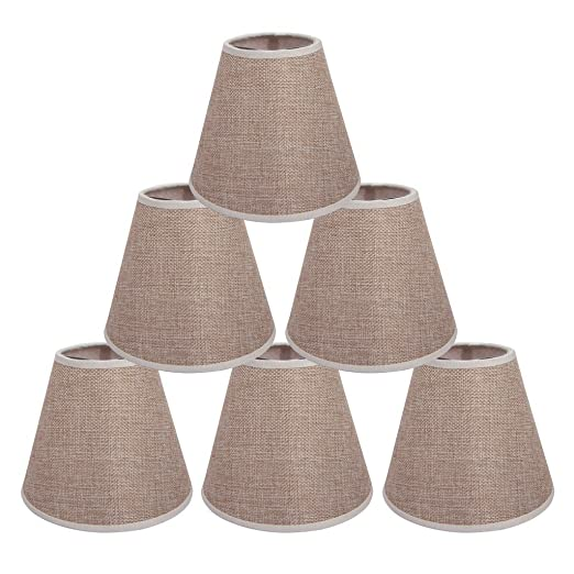 Onepre cream lamp shades clip on light shades candle lampshades for onepre cream lamp shades clip on light shades candle lampshades for chandelier ceiling pendant light mozeypictures Gallery