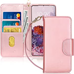 FYY Samsung S20 Plus Case, [Kickstand Feature] Luxury PU Leather Wallet Case Flip Folio Cover with [Card Slots] and [Note Pockets] for Samsung Galaxy S20+ Plus 5G 6.7 inch Rose Gold