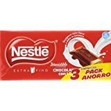 Nestlé - Chocolate con Leche Extrafino - Pack de 3 x 125 g - [Pack