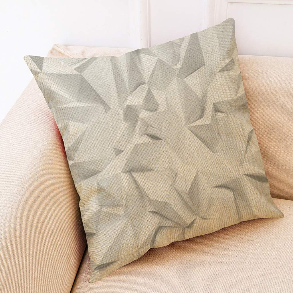 Weiliru Cotton Linen Decorative Throw Pillow Cover Case for Couch Sofa Home Decor Modern Geometric Accent Pillow Cushion