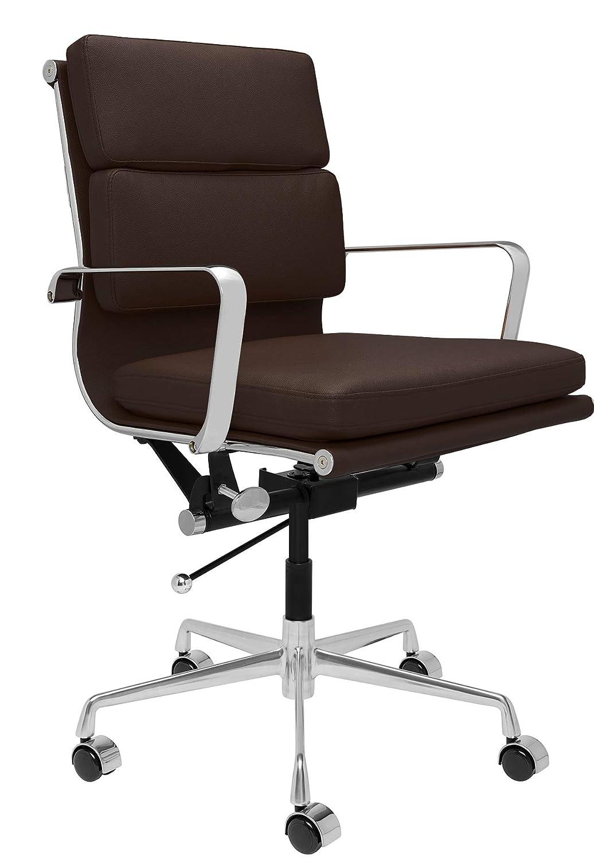 SOHO Soft Pad Management Chair (Dark Brown)