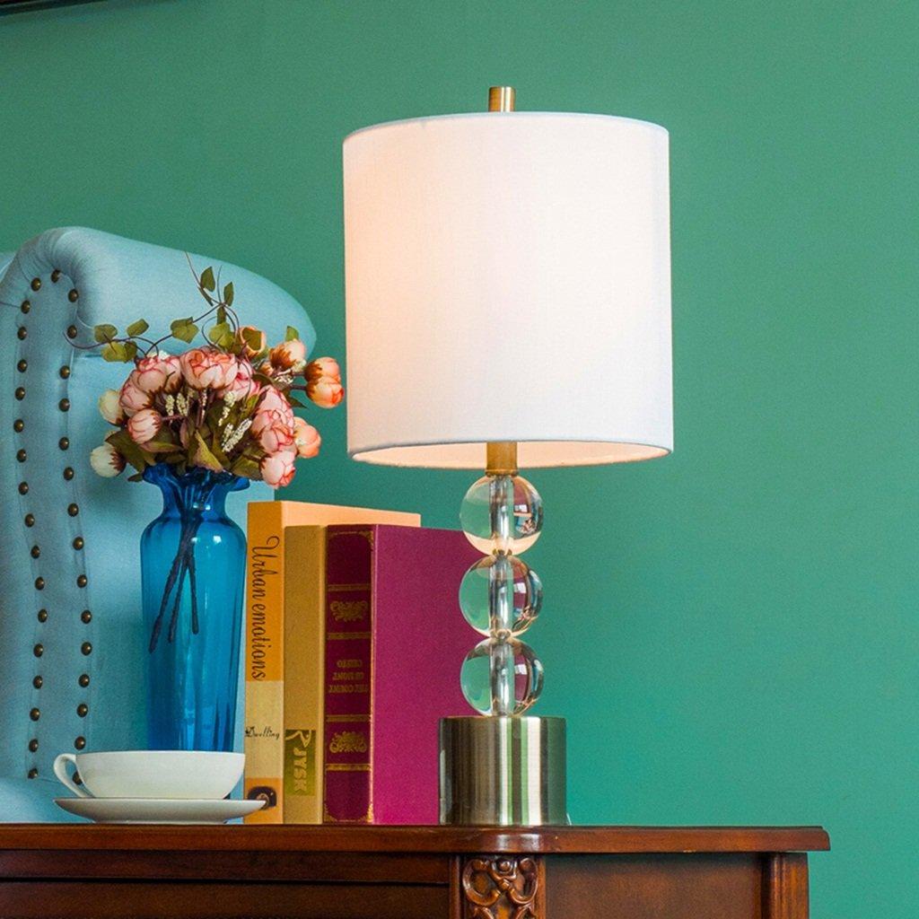 AJZGF Lámpara de Mesa Decorativa Lámpara de Cristal Moderna Sala ...