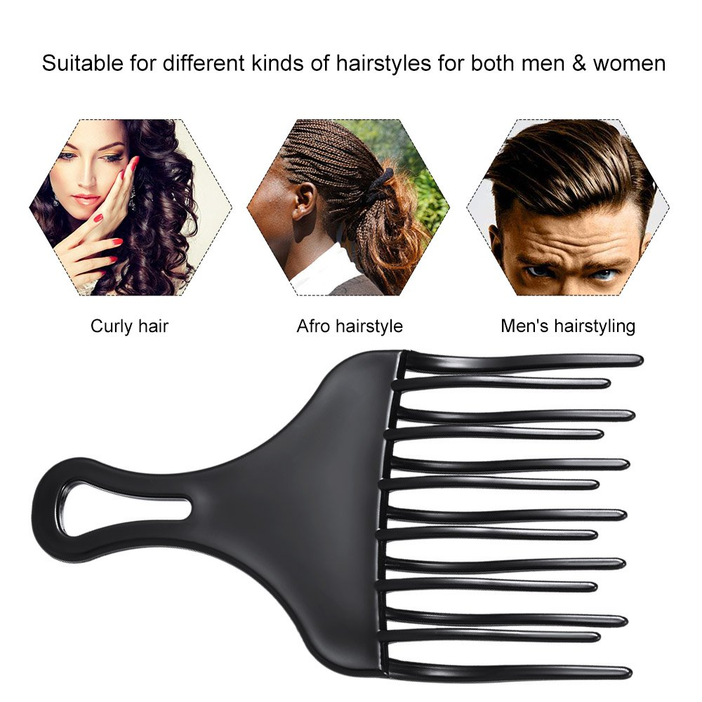 Amazon Anself Hair Comb Insert Afro Hair Pick Comb Hair Fork