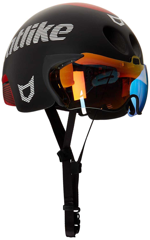 Catlike Rapid Tri MT Casco de Ciclismo, Negro (Black/Red Matt), Talla Única: Amazon.es: Deportes y aire libre
