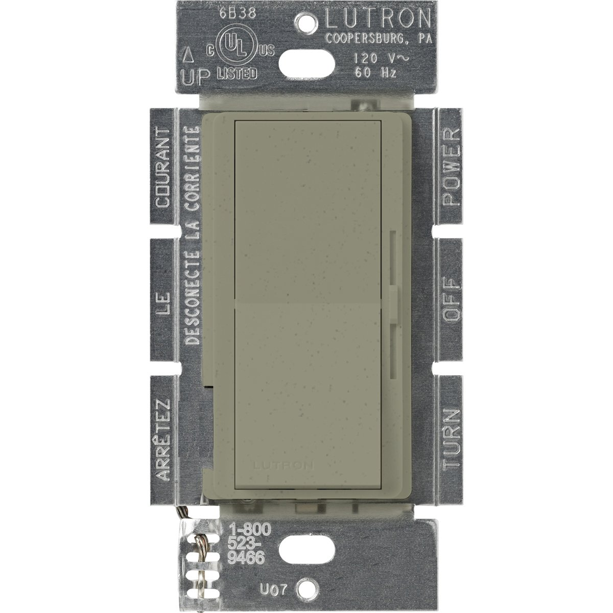LUTRON(ルートロン) ディーバ 3段階変速ファンコントローラ 1.5A 単極3投 DVSCFSQ-F-GB 1 B000MAQ1V0 Greenbriar Greenbriar