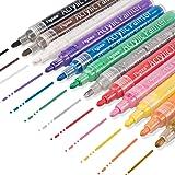 アクリルマーカーペン Keten 水性カラーペン ブラックボード・ホワイトボード・ガラス・陶磁に書ける 水拭きタイプ 蛍光マーカー 蛍光ペン 2-3mm 12色