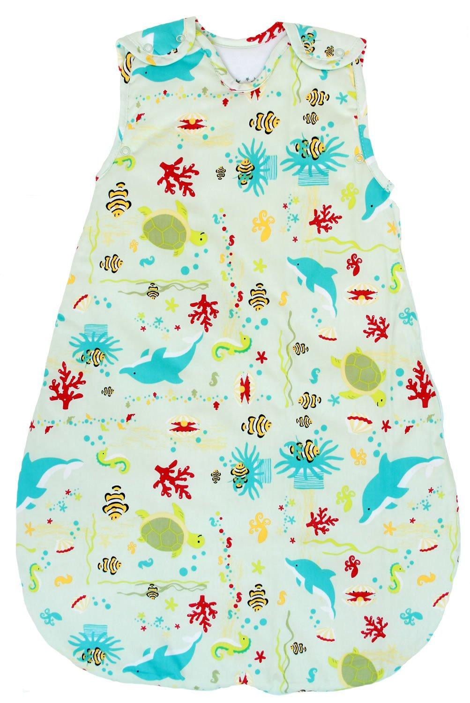 Baby Sleeping Bag - Wearable Blanket,100% Cotton, Summer Model, 1 Tog (Large (22 mos - 3T))