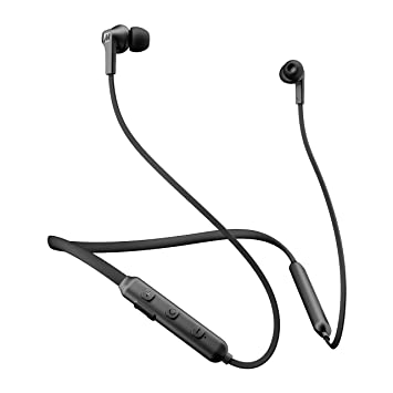 Mee Audio N1 inalámbrico Bluetooth con Banda para el Cuello Auriculares in-Ear con micrófono Integrado, Color Negro: Amazon.es: Electrónica