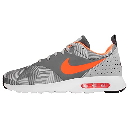 new concept 497af 70db8 nike air max tavas print mens trainers 742781 sneakers shoes DARK GREY TOTAL  ORANGE-WOLF GREY-WHITE 10 D(M) US  Amazon.in  Shoes   Handbags