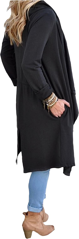 SwissWell Damen Strickjacke Cardigan Pullover Blazer Oberteil Open Front Jacke Mantel Langarm Loose mit Taschen