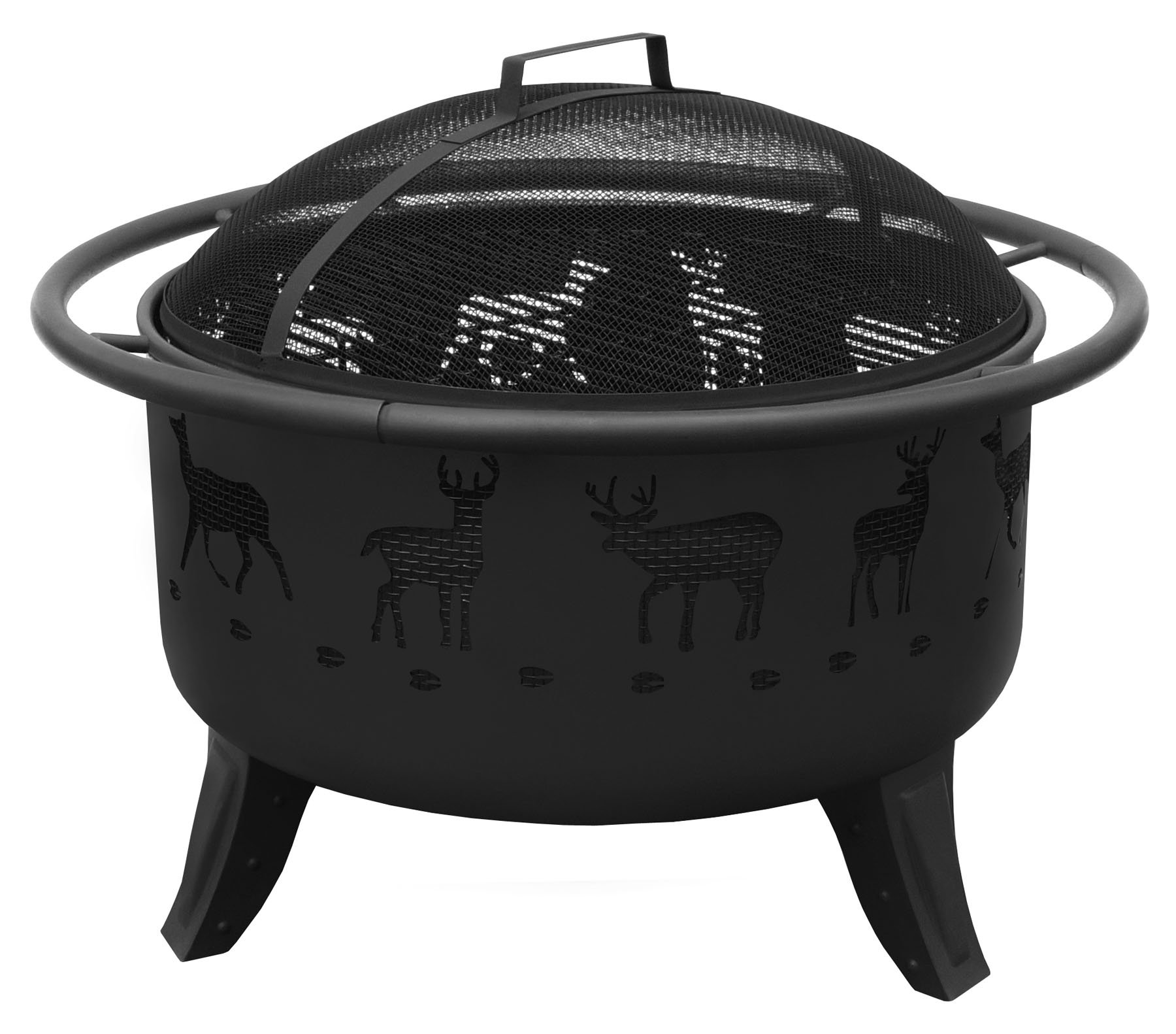 Landmann USA 23192 Patio Lights Deer Tracks Fire Pit, Black by Landmann