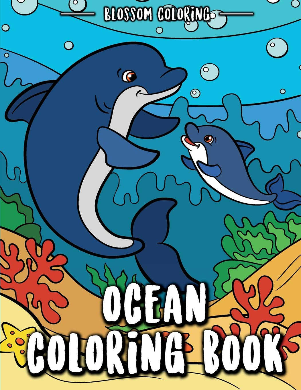 Ocean Coloring Book Underwater World Relaxation For