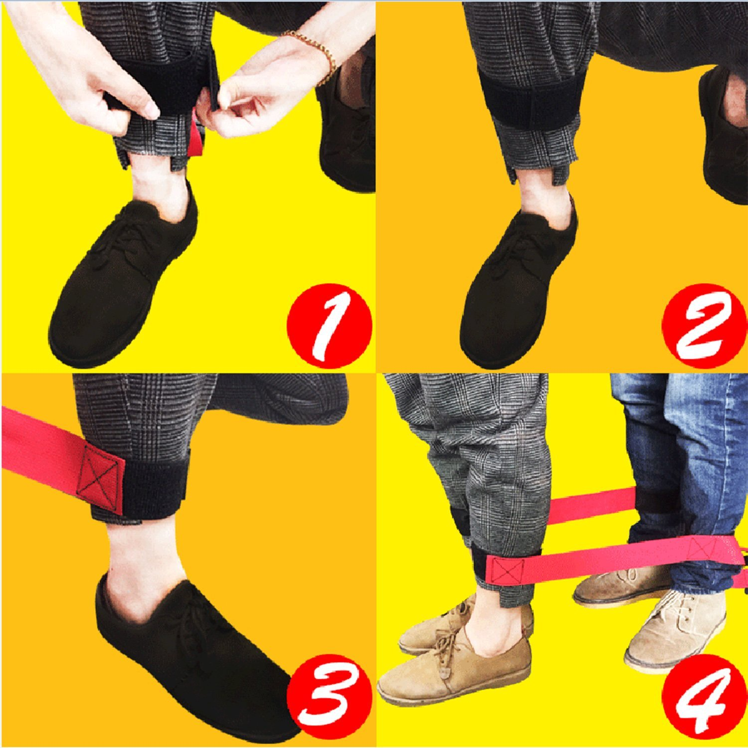 4 Legged Race Bands Outdoor Activities Teamwork Training for Kids Adults Families Birthday Party Outside Children Team Game Fullsexy