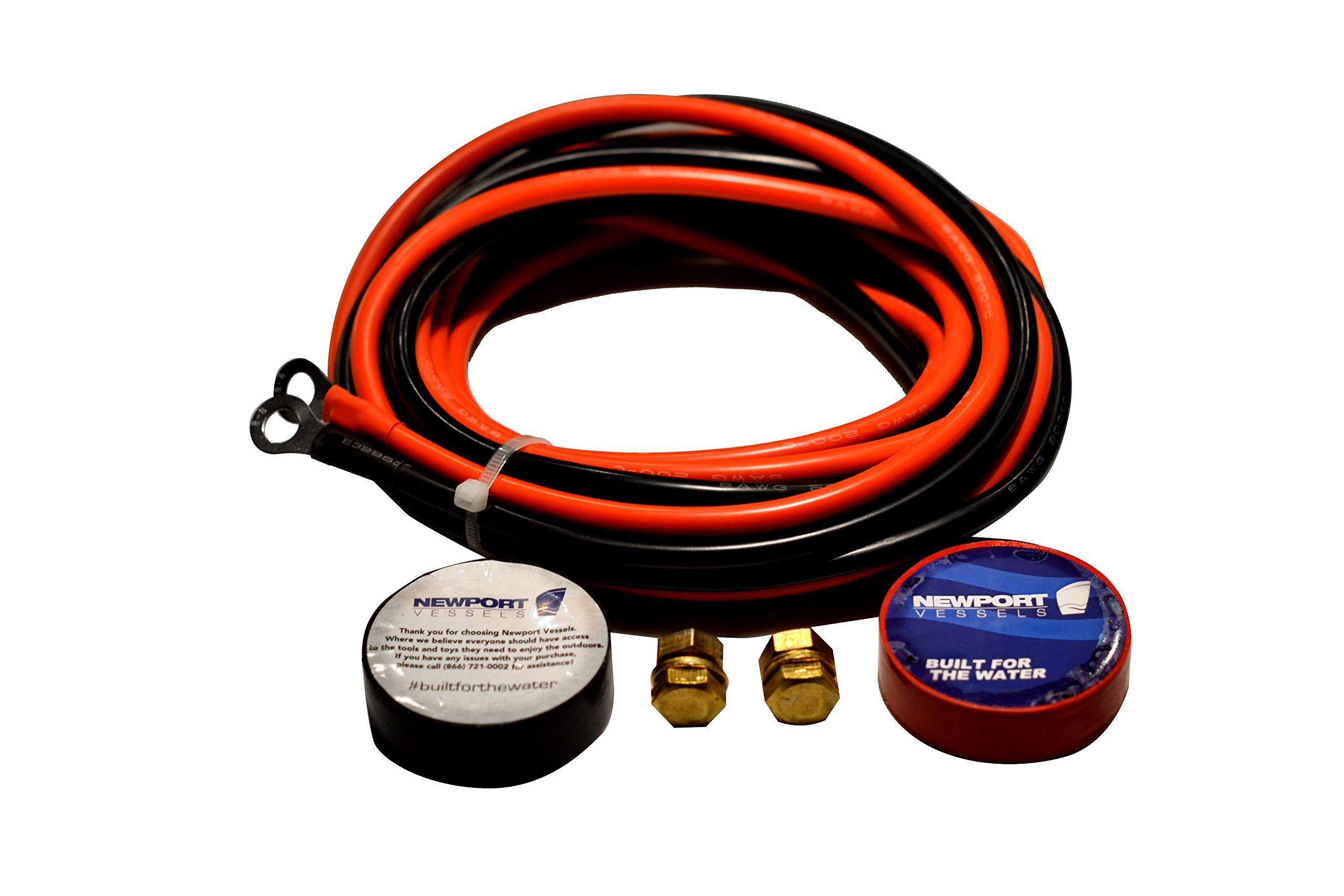 Newport Vessels Trolling Motor Battery Cable Extension Kit, 5-Feet