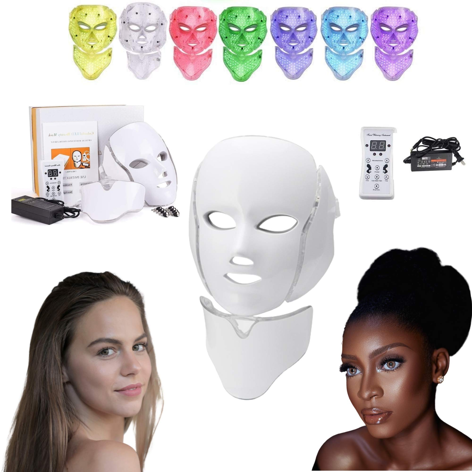 Photon LED Mask Skin Therapy for Acne, Anti Aging, Wrinkles & Collagen Boosting