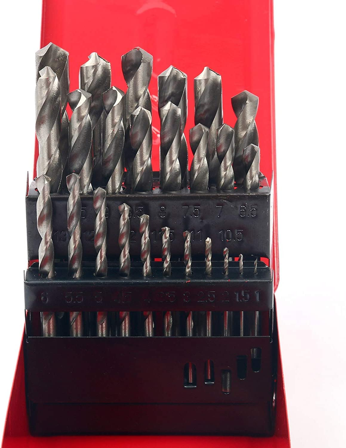 with Metal Case 38pcs Twist High Speed Steel Drill Set Drilling Bit Metal Metric Tool 1-13mm 118 Degree Split Point Angle HSS Drill Bit