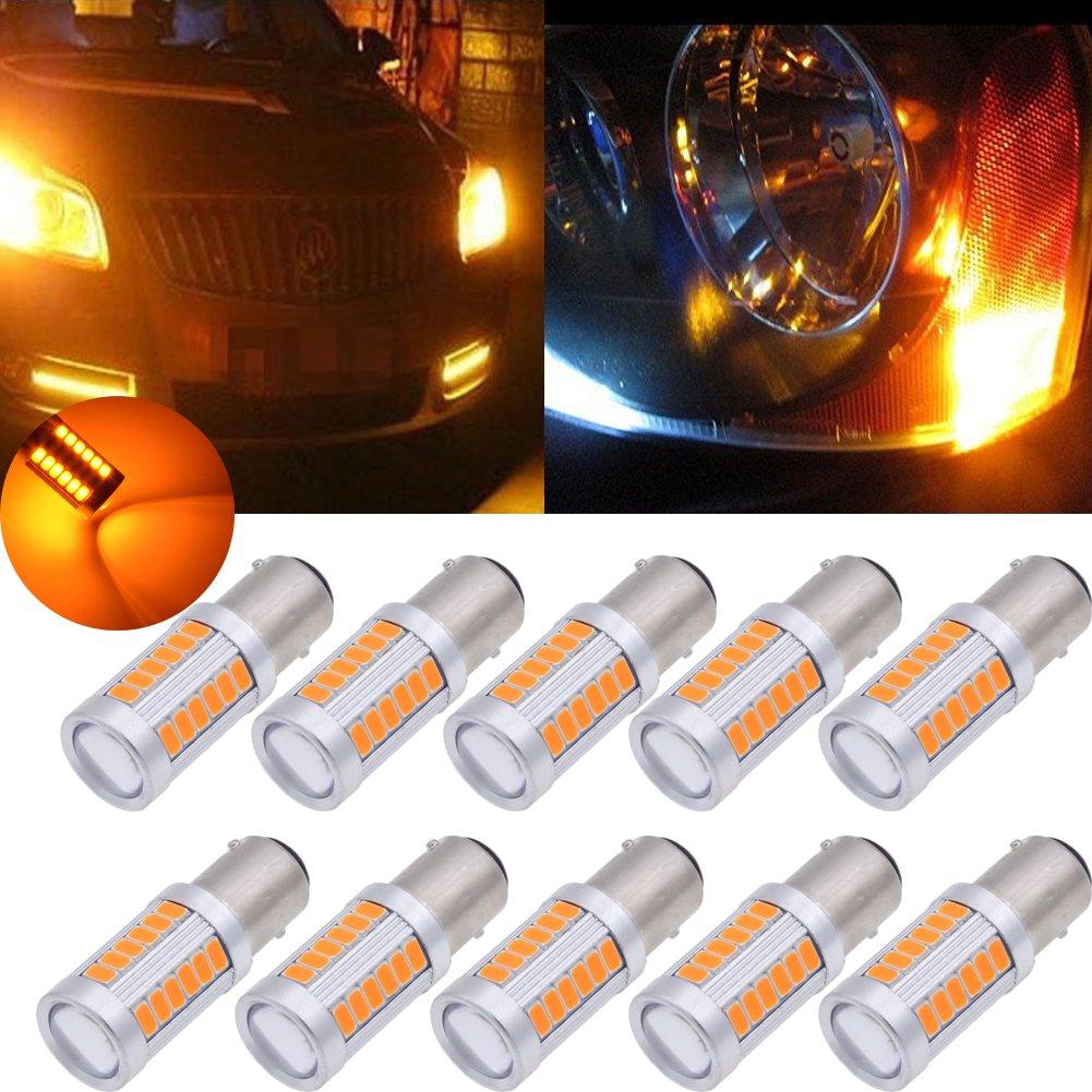 Tuincyn - Lampadine LED BAU15S, PY21W, 1056, 12496, 5009, 7507, 5630 33SMD, bianca, 900 lumen, luminose luci per freno, luce di stop, parcheggio, frecce, 12 V CC 3,6 W (confezione da 2) di TUINCYN