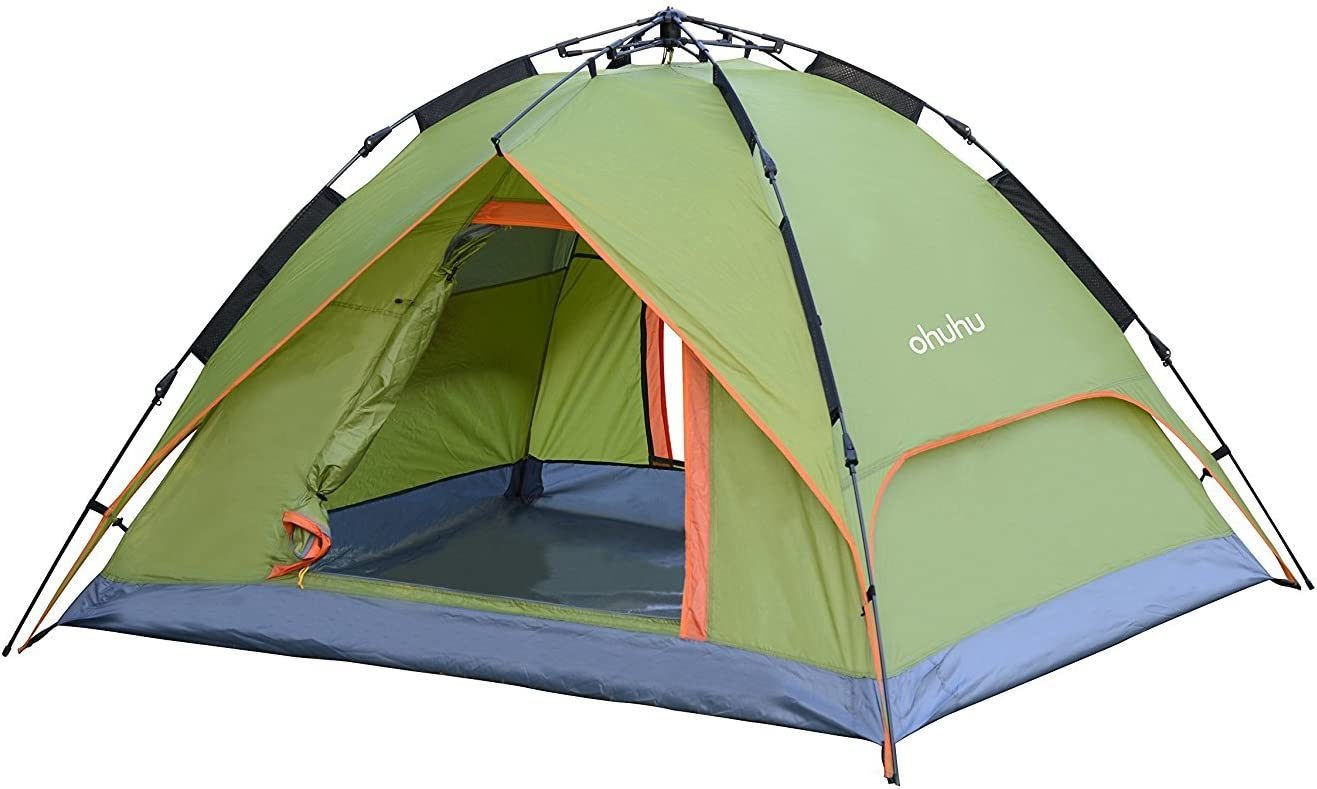 Ohuhu174 3 Person Tent With Carry Bag Windproof Waterproof And Uv Proof Beach Tent 96 5 X 57 X 43 3 Sports Outdoors
