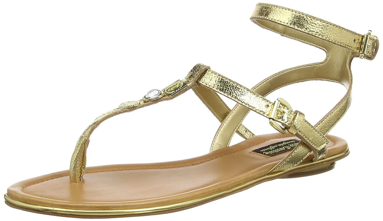 Juicy Couture Damen Marianna Sandalen  38.5 EU|Gold Metallic