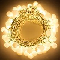 Gledto 4m LED Guirlande lumineuse à Piles Petits Boules Blanc chaud Décoration romantique pour Fête Noël Mariage Anniversaire Soirée Party Décor Chambre Maison Jardin Terrasse Pelouse