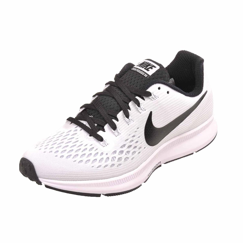 Nike Womens WMNS Air Zoom Pegasus 34 TB, White Black Size 10 US