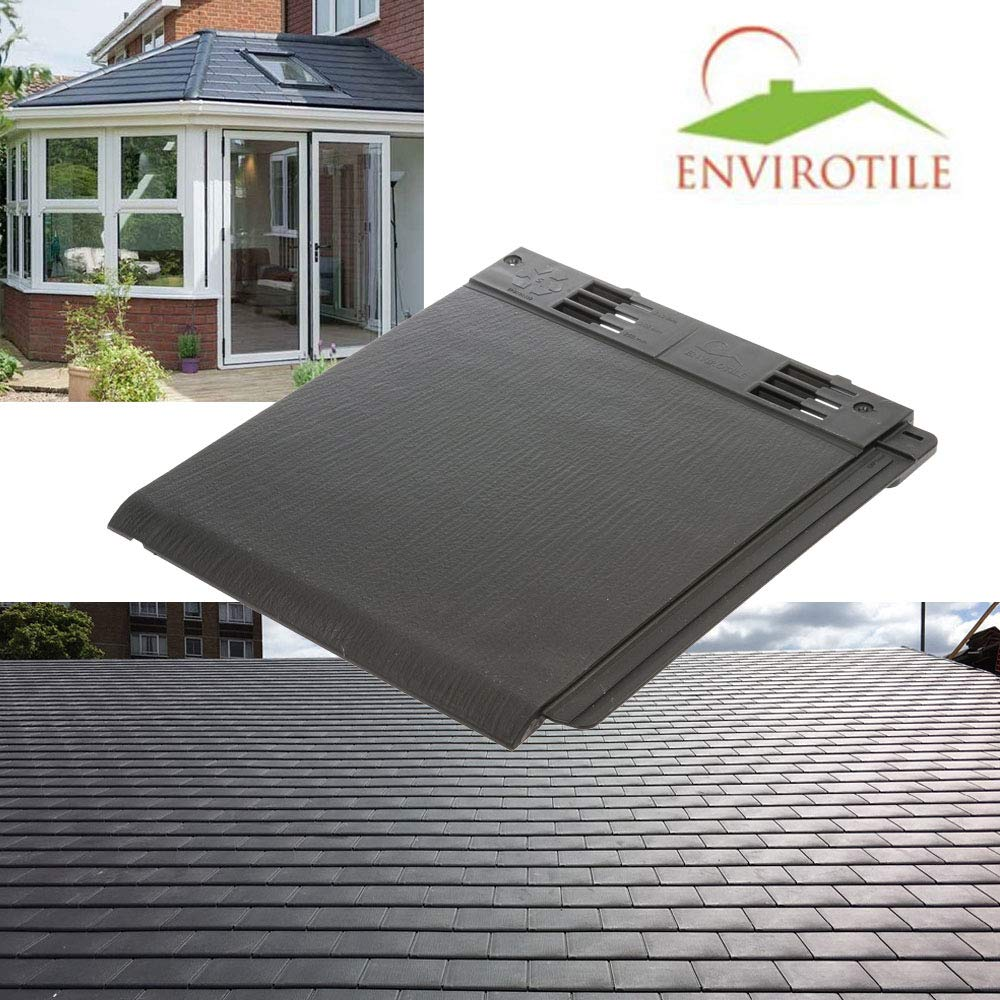 Tapco Synthetic Roof Slate Tile pewter Conservatory Porch Garage Shed Plastic