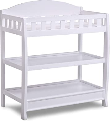 Grey Delta Children infant Changing Table with Pad
