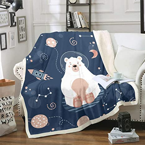 Sky Star Glow In Dark Kids Boys Girls Teddy Bedding Duvet Throw Cushion