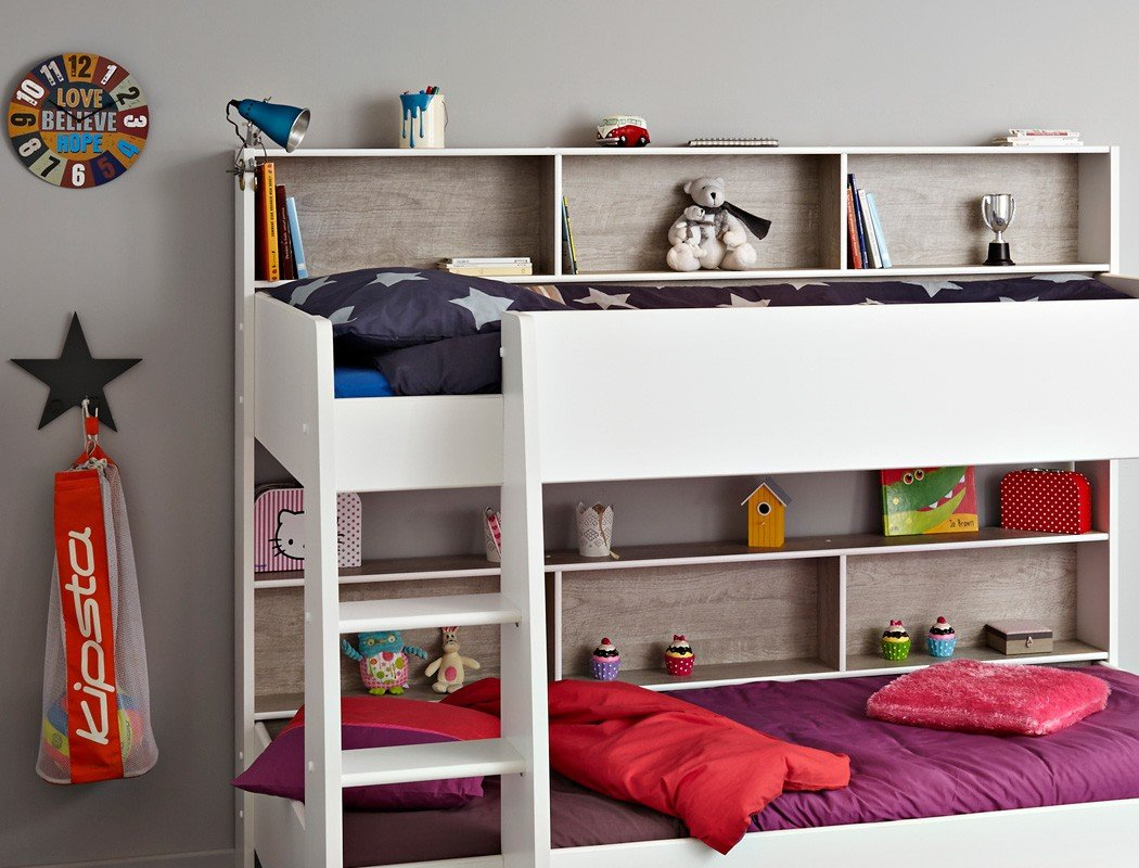 Etagenbett Wickey Crazy Trunky : Etagenbett hochbett kinderbett tomke cm weiß grau für