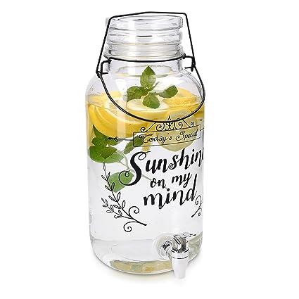 Navaris Dispensador de Bebidas con Capacidad DE 5,5 litros - dispensador de Vidrio con