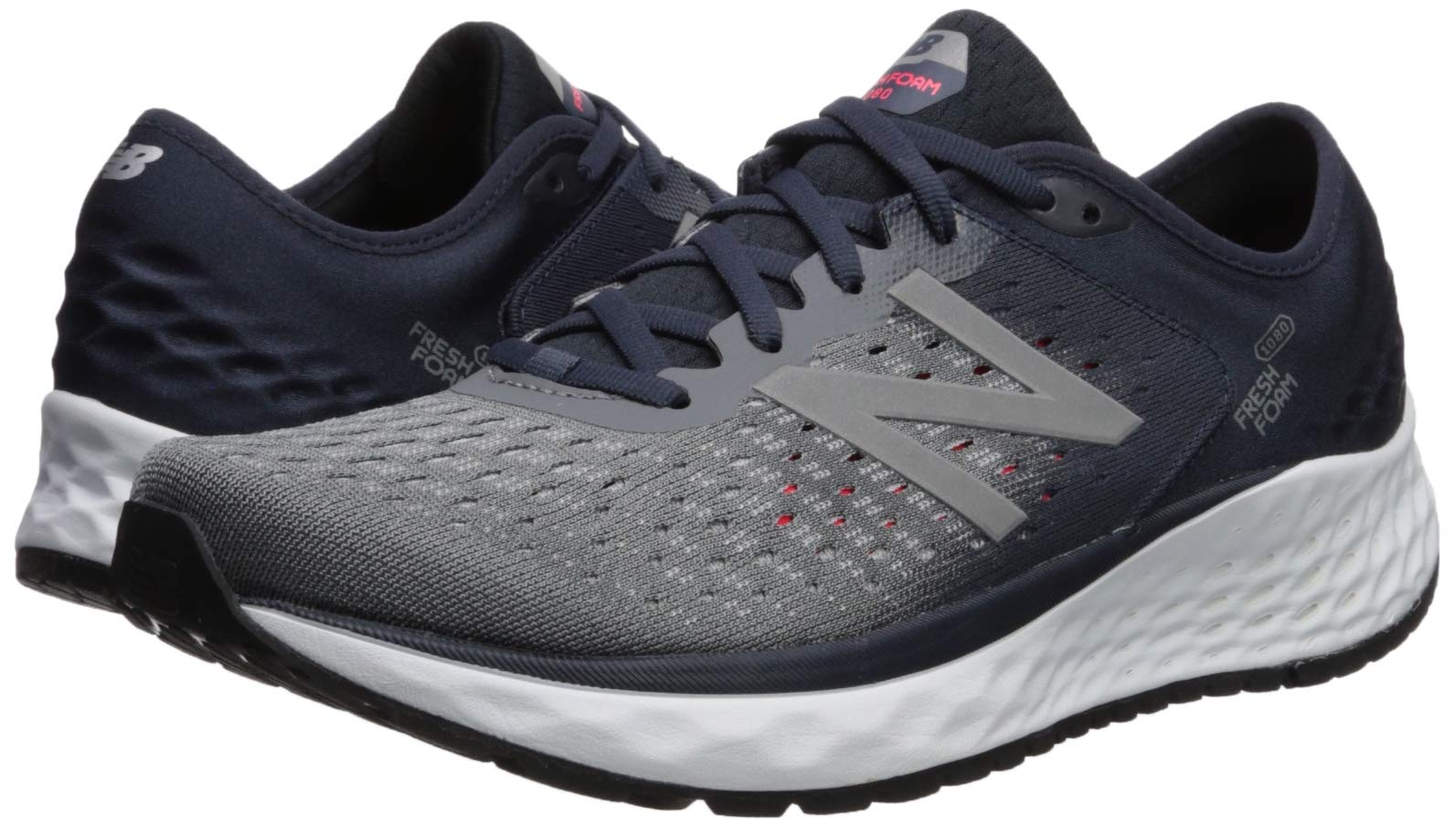 New Balance Men's 1080v9 Fresh Foam Running Shoe, Gunmetal/Outerspace/Energy red, 7 D US by New Balance (Image #6)