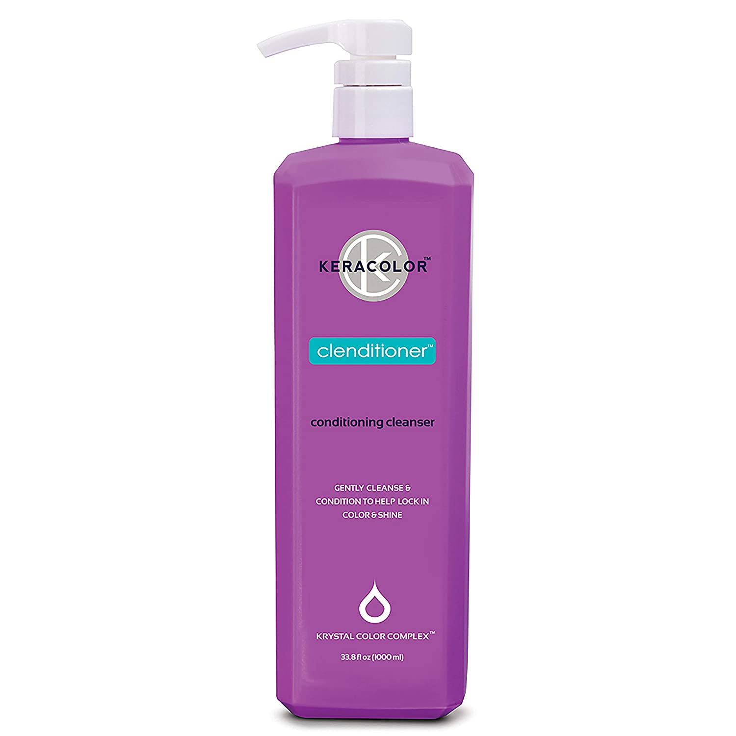Keracolor Clenditioner Hair Cleanser: Co Wash Cleansing Conditioner Keratin Infused - Color Safe Prevents Color Fade - Replaces Your Shampoo | 2 sizes