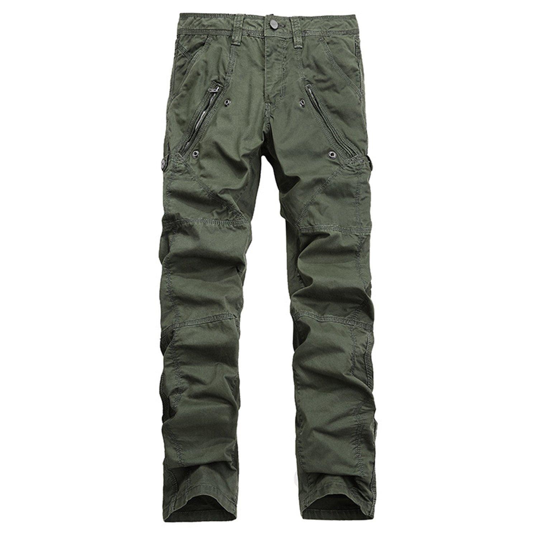 Cotton Cargo Pants Men Casual Slim Military Trousers Men Pantalon Homme Asian Size