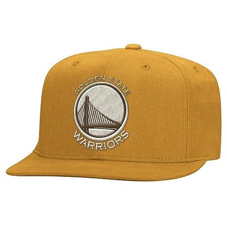 Golden State Warriors Adidas NBA Equipo nación Lona Snap Back Gorra – Oro e08c4446f35