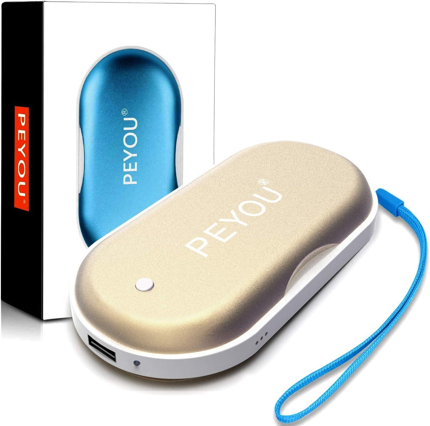 10000mAh Batterie Externe avec Lampe de Poche Chaufferette Main USB pour Ski Randonnée Camping Cadeaux etc Chauffe-Mains Reutilisable Rechargeable BigBlue Chaufferette Main Electrique 3 en 1 Noir HT-LB902