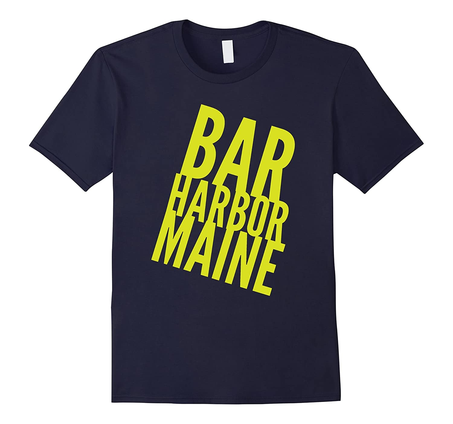 Bar Harbor Maine shirt with yellow text t-shirt-FL