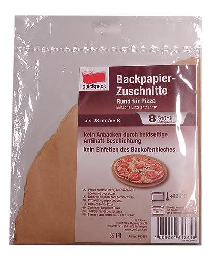 Neu Backpapier Zuschnitte 8 Stück 28cm für Rund für Pizza*